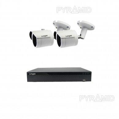 5 megapikselių raiškos IP kamerų komplektas Longse - 2- 4 kameros LBH30SS500