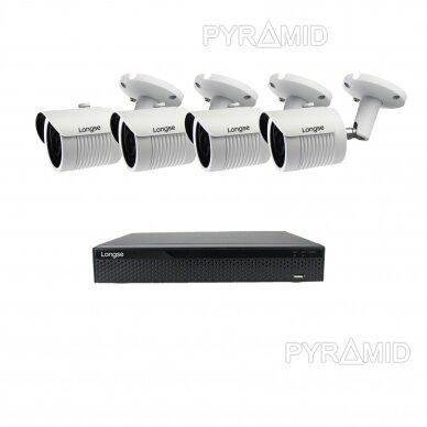 5 megapikselių raiškos IP kamerų komplektas Longse - 2- 4 kameros LBH30SS500 12