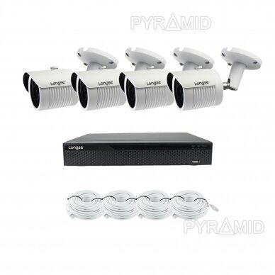 5 megapikselių raiškos IP kamerų komplektas Longse - 2- 4 kameros LBH30SS500 13
