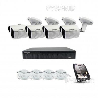 5 megapikselių raiškos IP kamerų komplektas Longse - 2- 4 kameros LBH30SS500 17