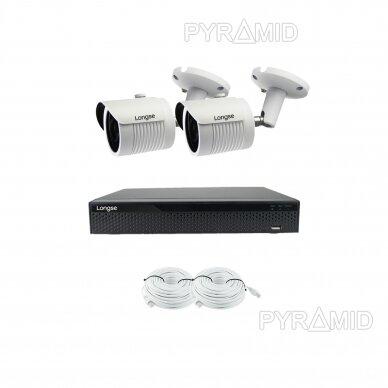 5 megapikselių raiškos IP kamerų komplektas Longse - 2- 4 kameros LBH30SS500 5