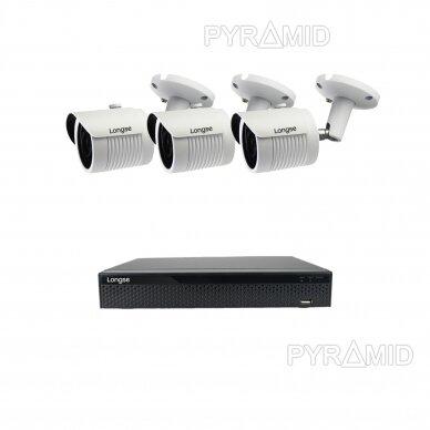 5 megapikselių raiškos IP kamerų komplektas Longse - 2- 4 kameros LBH30SS500 6