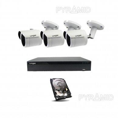 5 megapikselių raiškos IP kamerų komplektas Longse - 2- 4 kameros LBH30SS500 7