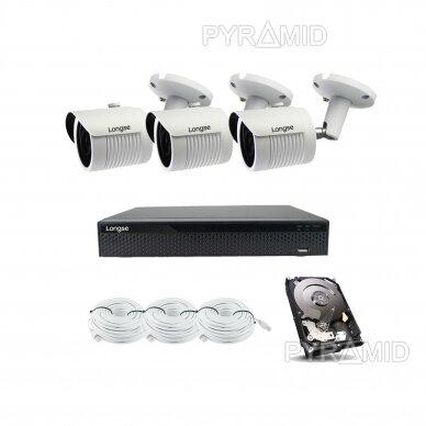 5 megapikselių raiškos IP kamerų komplektas Longse - 2- 4 kameros LBH30SS500 8