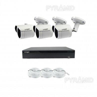 5 megapikselių raiškos IP kamerų komplektas Longse - 2- 4 kameros LBH30SS500 9
