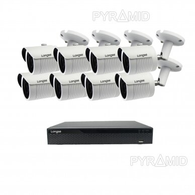 5 megapikselių raiškos IP kamerų komplektas Longse - 5-8 kameros LBH30SS500 20