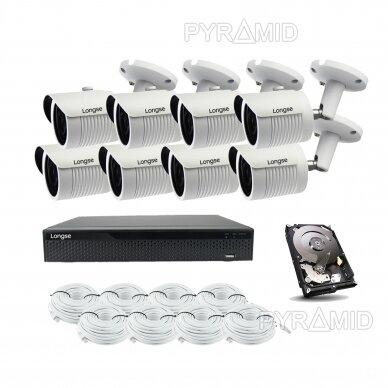 5 megapikselių raiškos IP kamerų komplektas Longse - 5-8 kameros LBH30SS500 2