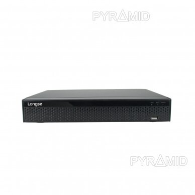 9 kamerų IP vaizdo įrašymo įrenginys Longse LS-NVR3608DP, 5Mp,4Mp,3Mp,1080p, 8xPOE
