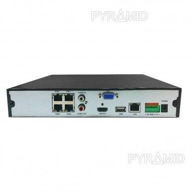 9 kamerų IP vaizdo įrašymo įrenginys Longse NVR2104DP, iki 8Mp, 4xPOE 4
