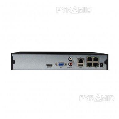 16 kamerų IP vaizdo įrašymo įrenginys Longse NVR3604CDP, iki 4K 8Mp, 4xPOE 4