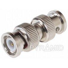 Adapteris BNC kištukas (M) į BNC kištukas (M) , skirtas sujungti 2 kabelius
