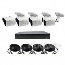 AHD 4 cameras surveillance kit Longse with high resolution 5Mpix cameras LBH30HTC500FK