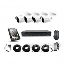 AHD 4 camera surveillance kit Longse with 5Mpix cameras LBH30HTC500FK