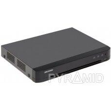 AHD, HD-CVI, HD-TVI, CVBS, TCP/IP REGISTRATORIUS IDS-7204HQHI-M1/S(C)/4A+4/1ALM 4 KANALAI ACUSENSE Hikvision