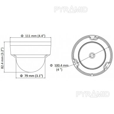 IP kamera Hikvision DS-2CD1123G0E-I, 2MP, 2,8mm, POE 4