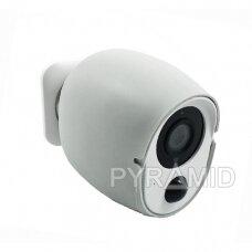 Belaidė IP kamera PYRAMID PYR-DP2M, su akumuliatoriumi, WIFI ir microSD kortelės jungtimi. Tinkama lauko sąlygoms. Full HD 1080p