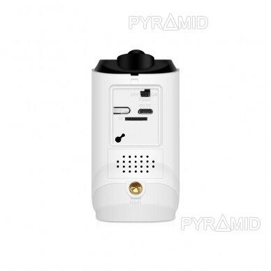 Belaidė IP kamera PYRAMID PYR-DC2S, su akumuliatoriumi, WIFI ir microSD kortelės jungtimi. Tinkama lauko sąlygoms. Full HD 1080p 3