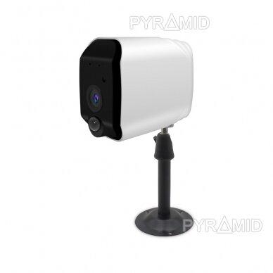 Belaidė IP kamera PYRAMID PYR-DC2S, su akumuliatoriumi, WIFI ir microSD kortelės jungtimi. Tinkama lauko sąlygoms. Full HD 1080p 4