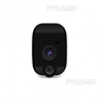 Belaidė IP kamera PYRAMID PYR-DC2S, su akumuliatoriumi, WIFI ir microSD kortelės jungtimi. Tinkama lauko sąlygoms. Full HD 1080p 5