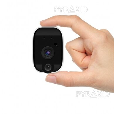 Belaidė IP kamera PYRAMID PYR-DC2S, su akumuliatoriumi, WIFI ir microSD kortelės jungtimi. Tinkama lauko sąlygoms. Full HD 1080p 6