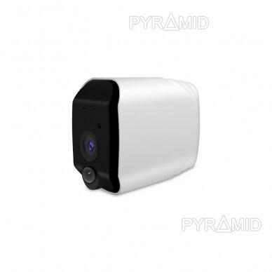 Belaidė IP kamera PYRAMID PYR-DC2S, su akumuliatoriumi, WIFI ir microSD kortelės jungtimi. Tinkama lauko sąlygoms. Full HD 1080p 2