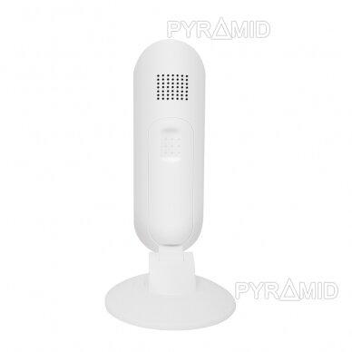 Belaidė IP kamera PYRAMID PYR-DK2M, su akumuliatoriumi, WIFI ir microSD kortelės jungtimi. Skirta patalpoms. Full HD 1080p 7