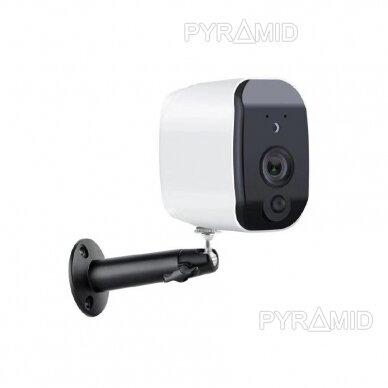Belaidė IP kamera PYRAMID PYR-DC2S, su akumoliatoriumi, WIFI ir microSD kortelės jungtimi, Full HD 1080p