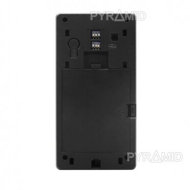 Durų skambutis-domofonas su akumuliatoriumi ir kamera Pyramid PYR-DB1M, WIFI ir microSD kortelės jungtimi. Skambina į programėlę telefone. 5