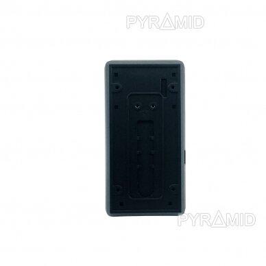 Durų skambutis-domofonas su akumuliatoriumi ir kamera Pyramid PYR-DB1M, WIFI ir microSD kortelės jungtimi. Skambina į programėlę telefone. 4