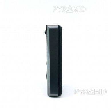 Durų skambutis-domofonas su akumuliatoriumi ir kamera Pyramid PYR-DB1M, WIFI ir microSD kortelės jungtimi. Skambina į programėlę telefone. 3