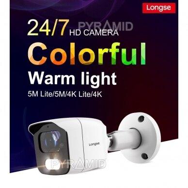 HD vaizdo stebėjimo kamera Longse BMSAHTC500FKPW, 5MP, 3,6mm, baltos šviesos LED iki 20m 2