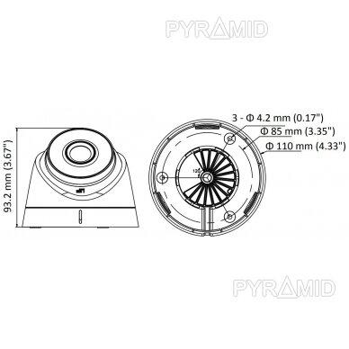 IP kamera Hikvision DS-2CD1343G0E-I, 3,7MP, 4mm, POE 4