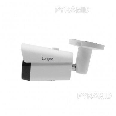 IP kamera Longse LBF30ISS500, 5Mp, 2.8mm, 25m IR, microSD jungtis iki 512GB, POE 4