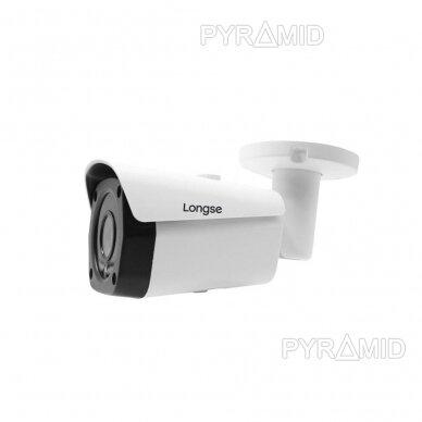 IP kamera Longse LBF30ISS500, 5Mp, 2.8mm, 25m IR, microSD jungtis iki 512GB, POE 2