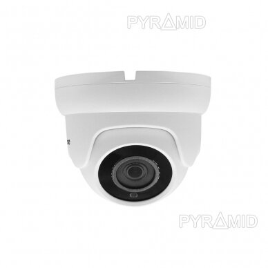 IP stebėjimo kamera Longse LIRDBAFE500/A, 2,8mm, 5Mp, 20m IR, POE, su mikrofonu, balta