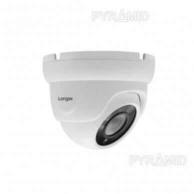 IP stebėjimo kamera Longse LIRDBAFE500/A, 2,8mm, 5Mp, 20m IR, POE, su mikrofonu, balta 2