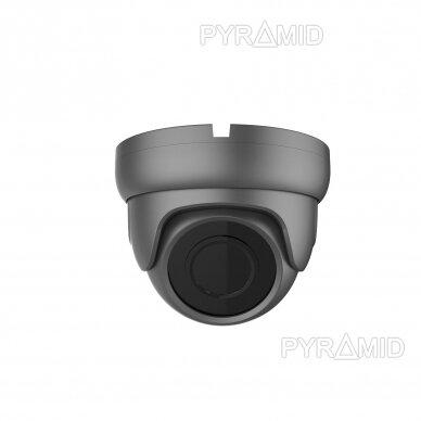 IP stebėjimo kamera Longse LIRDBAFE500/DGA, 2,8mm, 5Mp, 20m IR, POE, su mikrofonu, tamsiai pilka 2