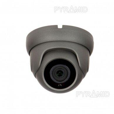 IP stebėjimo kamera Longse LIRDBAFE500/DGA, 2,8mm, 5Mp, 20m IR, POE, su mikrofonu, tamsiai pilka 3