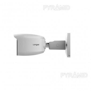 IP stebėjimo kamera Longse BMSASS400WH, 3,6mm, 5Mp, POE, microSD jungtis, baltos šviesos LED iki 25m 3