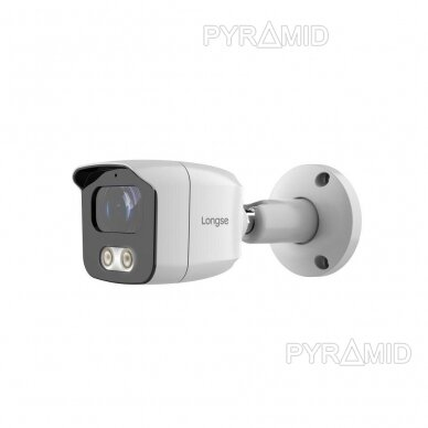 IP kamera Longse BMSAML800WH, 3,6mm, 8Mp, POE, microSD jungtis, baltos šviesos LED iki 25m