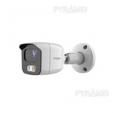 IP stebėjimo kamera Longse BMSAML500WH, 3,6mm, 5Mp, POE, microSD jungtis, baltos šviesos LED iki 25m