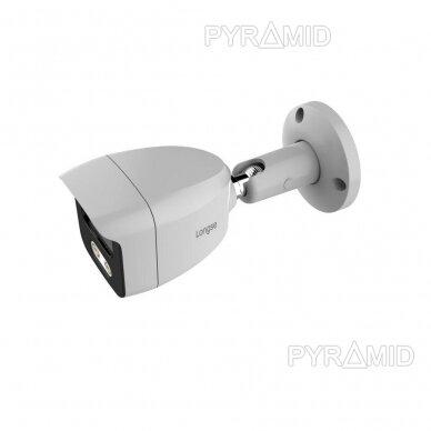 IP stebėjimo kamera Longse BMSAML500WH, 3,6mm, 5Mp, POE, microSD jungtis, baltos šviesos LED iki 25m 2