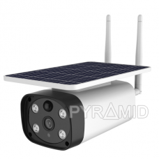IP kamera PYRAMID PYR-SH200SA ar saules bateriju, Full HD 1080, 4G, microSD slots, integrēts mikrofons