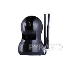 Išmanioji valdoma IP stebėjimo kamera PYRAMID PYR-SH100B, su WIFI ir microSD jungtimi bei mikrofonu, HD 720p