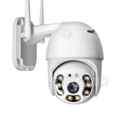 Išmanioji valdoma lauko WIFI kamera su žmonių detekcijos funkcija PYRAMID PYR-SH200DPB, WIFI, microSD jungtis, Full HD 1080p
