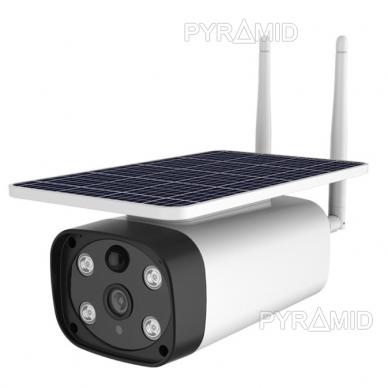 Išmanioji lauko kamera su sim kortele PYRAMID PYR-SH200SA, 4G, microSD jungtis, Full HD 1080p