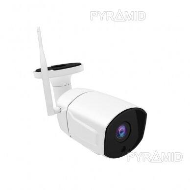 Išmanioji lauko WIFI kamera su žmonių detekcijos funkcija PYRAMID PYR-SH200DW, WIFI, microSD jungtis, Full HD 1080p 2