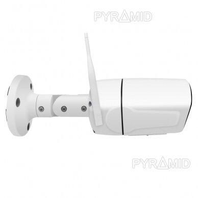 Išmanioji lauko WIFI kamera su žmonių detekcijos funkcija PYRAMID PYR-SH200DW, WIFI, microSD jungtis, Full HD 1080p 3