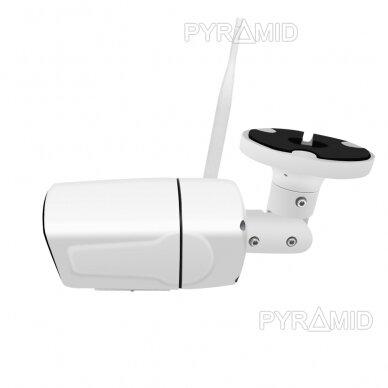 Išmanioji lauko WIFI kamera su žmonių detekcijos funkcija PYRAMID PYR-SH200DW, WIFI, microSD jungtis, Full HD 1080p 4