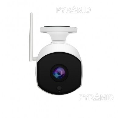 Išmanioji lauko WIFI kamera su žmonių detekcijos funkcija PYRAMID PYR-SH200DW, WIFI, microSD jungtis, Full HD 1080p 5